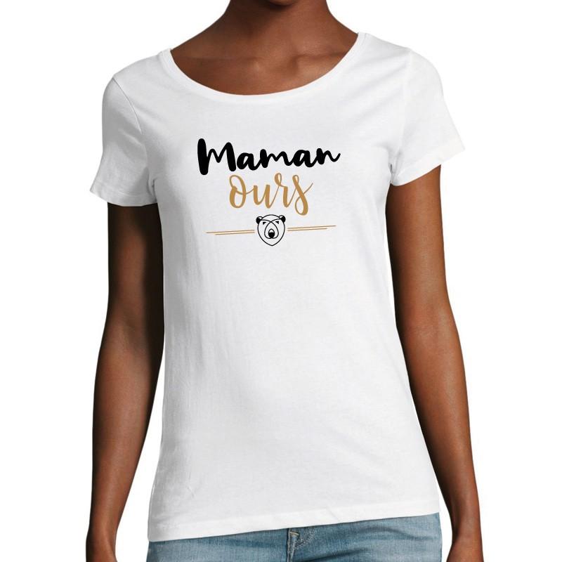 T-shirt Femme Maman ours