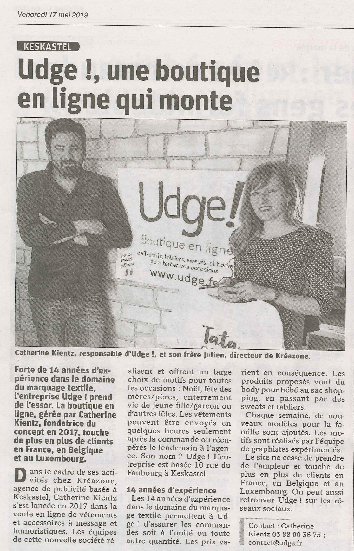 Boutique udge.fr