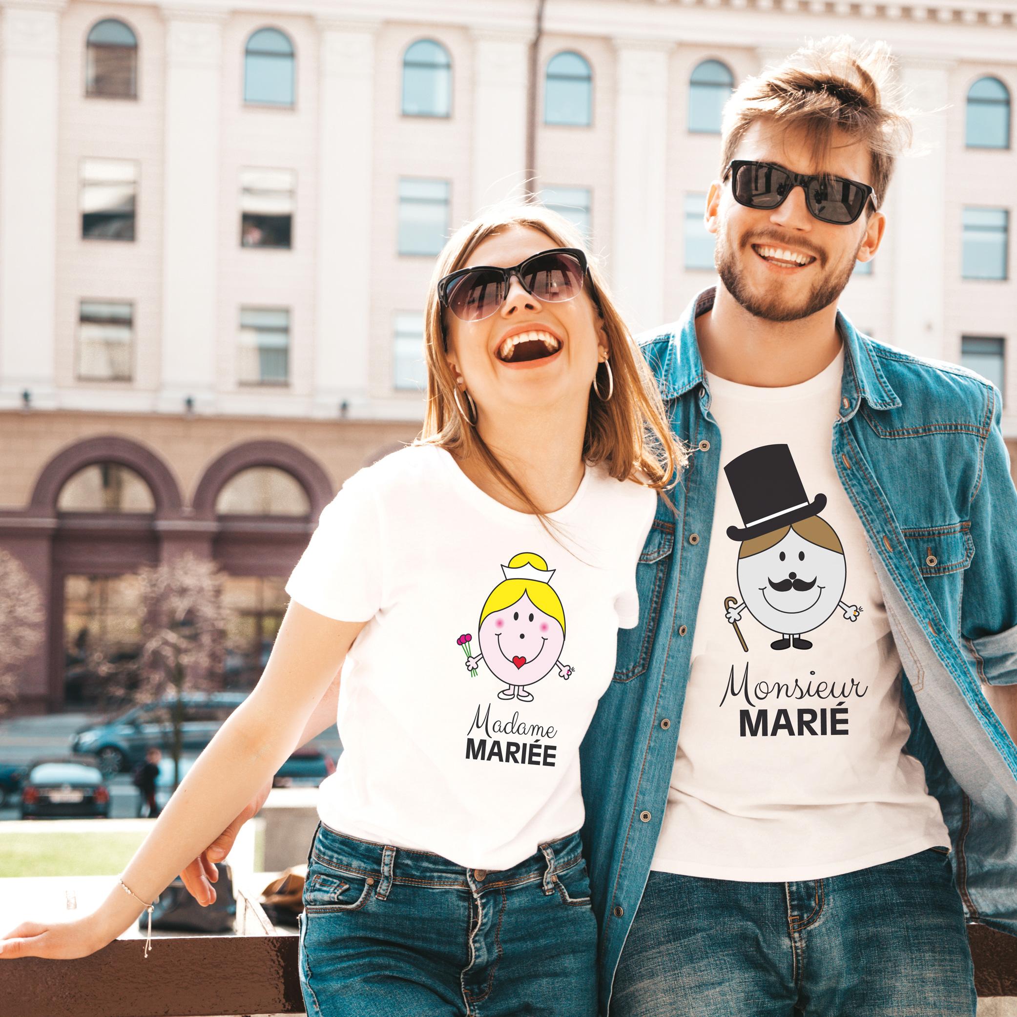 Tee-shirts enterrement de vie de jeune fille et de garçon